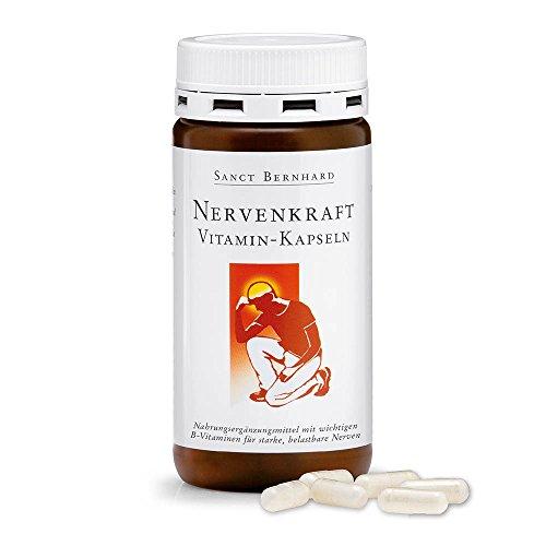 Sanct Bernhard Nervenkraft-Vitamin-Kapseln mit Niacin, D-Pantothensäure, Vitaminhefe 180 Kapseln