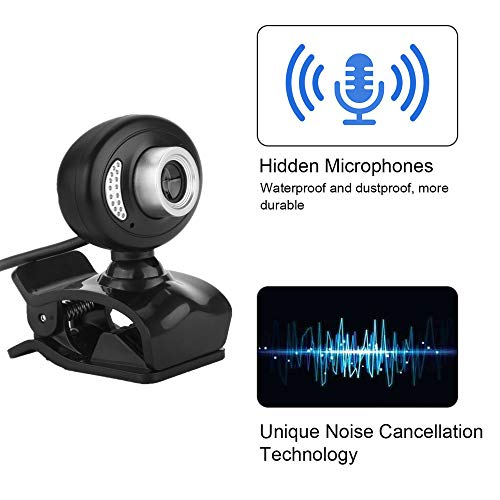 SDRFSWE 720P Computer Camera HD USB Camera Met Stereo Microfoon Voor Breedbeeld Video Bellen En Opnemen Desktop Of Notebook Camera/Zwart