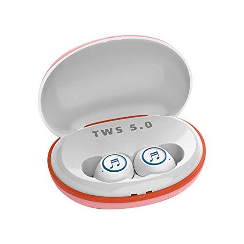 Shengshi De nieuwe draadloze Bluetooth headset 5.0 met opladen schat TWS sport in-ear stereo mini oortelefoons, automatische koppeling, geschikt voor alle Bluetooth apparaat opladen dozen, Kleur: wit