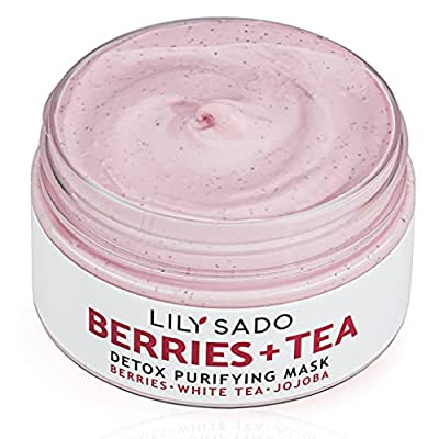 LILY SADO Berries + Tea Purifying Face Mask - Natural Facial Mud Mask for Acne, Oily Skin & Blackheads - Anti-Aging Defense for Wrinkles, Undereye Dark Circles - Best Facial Pore Reducer - 4 oz from Lily Sado Inc