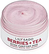 LILY SADO Berries + Tea Purifying Face Mask - Natural Facial Mud Mask for Acne, Oily Skin & Blackheads - Anti-Aging Defense for Wrinkles, Undereye Dark Circles - Best Facial Pore Reducer - 4 oz