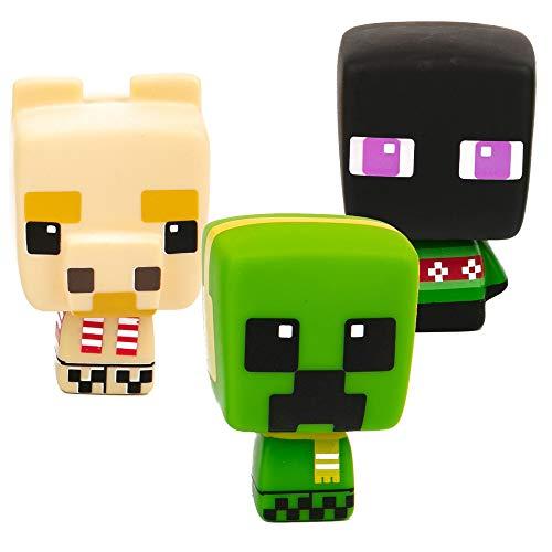 JINX Minecraft Mobbins Vinyl Toy Figures Holiday Collection , 3-Pack (Creeper, Enderman, Llama)