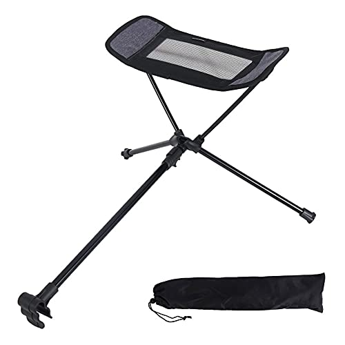 Portable Folding Retractable Footrest Leg Rest Camping Chair Kit for Folding Reclining Swing Chair Moon Chair Beach Chair (Gray)