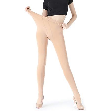 Jambes Faux Collant Polaire Chaud Translucide Slim Stretch Collants Taille Haute Pour Hiver En Plein Air