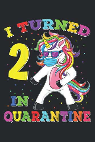 Kids I Turned 2 In Quarantine Flossing Unicorn 2Nd Birthday Gift: Undated Daily Planner 6 x 9 inch with 110 Pages - You've Got This Organizer, Scheduler, Tasks, Ideas, Notes, To Do Lists
