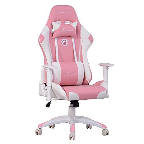 FurnitureR Silla de oficina de la silla de silla de espalda alta Silla de video ergonómica con silla de carrera reclinable con...