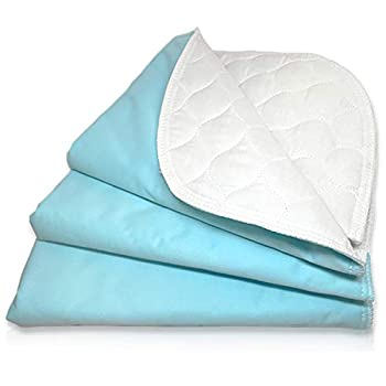 RMS Ultra Soft 4-Layer Washable and Reusable Incontinence Bed Pad - Waterproof Bed Pads 18 X24   3 Pack