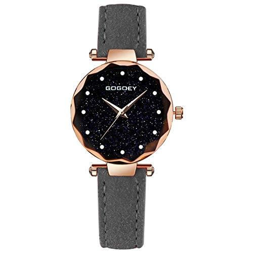 Reloj dial del rectángulo Taladro Simple Soft Scrub Reloj de la Correa (Negro) (Color : Grey)