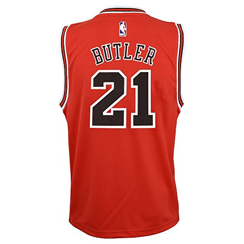 Jimmy Butler NBA Chicago Bulls Official Road Red Player Replica Jersey Youth,M/10-12