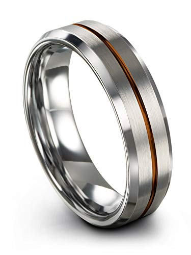 WIDE 8mm Band Tungsten Carbide Ring Facelet Drop Edge