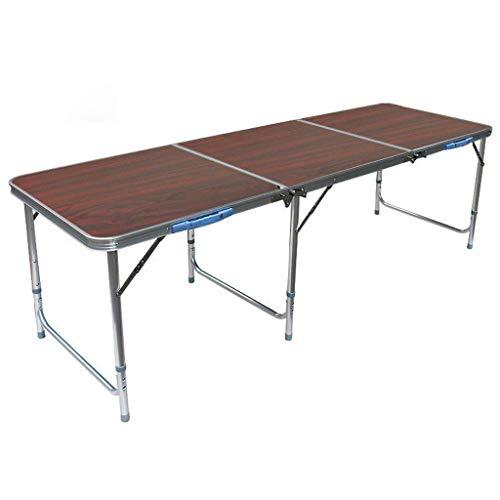 Multifunktionstisch Tragbar Faltbarer Esstisch Im Freien Hocker Höhenverstellbar for Outdoor-Picknick/Camping/Partei/Grill Mobiler Laptop Schreibtischständer (Color : Jujube)