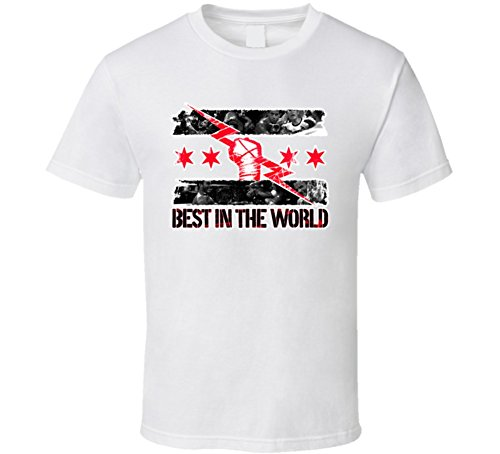 cm Punk Best in The World Wrestling T Shirt L White