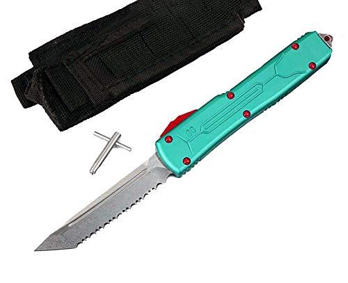 Portable Outdoor Klappmesser Scharf VG10 Stahl Messer Klinge Griff titan Aluminium Messer Taschenmesser Fahrtenmesser Einhandmesser klein Survival Halskette Messer werkzeuge Wandern Jagen