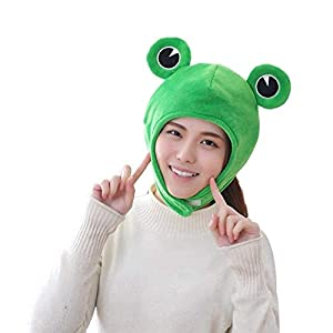 Frog Hat St.Patrick'sDay Cute Fisherman Cap Packable Sun Hat for Women Party Dress up Cosplay Costume Green