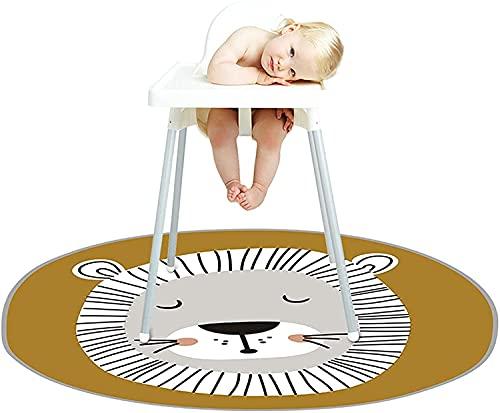 """Baby Hochstuhl Bodenmatte, 55"""" Rutschfeste Spritzmatte Große Unterlage Bodenschutzmatte Teppich, Krabbelmatte, Spielmatte Kinder Für Hochstuhl/kunsthandwerk/spielmatte/campingmatte/krabbelmatte"""