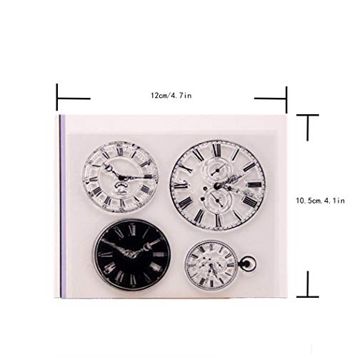 BINGMAX Clear Stamps, Store Watch Time Clock Faces, Seal Steampunk Card Making Scrapbooking Decor Album Photo, DIY Diary Paper Craft Art steampunk buy now online