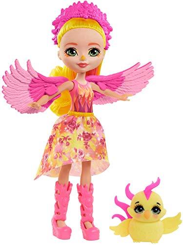 Royal Enchantimals Muñeca Fénix con fénix mascota de juguete (Mattel GYJ04)
