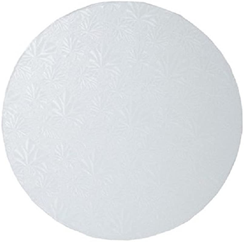 Oasis Supply Round Cake Drum 18 Inch White Foil