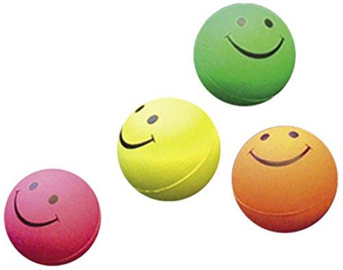 Nobby Moosgummi Smiley Bälle sortiert 4,7 cm; 4er Netz