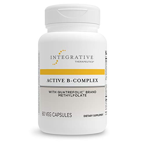 Integrative Therapeutics - Active B-Complex with Folate and Vitamins B1, B2, B3, B5, B6, B7, B12, and Choline Bitartrate for Energy Production - NSF Certified for Sport - Vegan Formula