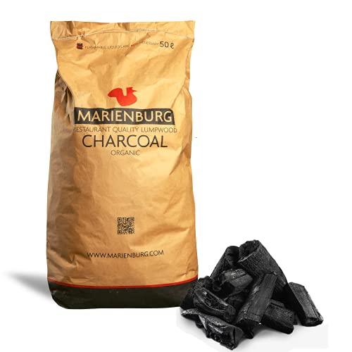 Marienburg - Qualitäts-Bio-Holzkohle, geeignet für den Einsatz in Restaurants, für Grills und Pizza-Öfen, 50L