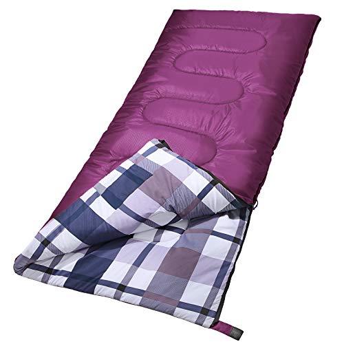 SONGMICS Sleeping Bag, 3-Season Outdoor Camping, Adults,PurpleUGSB40PL