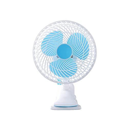 CZFSKCZfs Ventilador Pequeño, Ventilador eléctrico Mini Mini fanático Estudiante Dormitorio Cama Mute Portátil Oficina Desktop Clip Fan (Color : White)