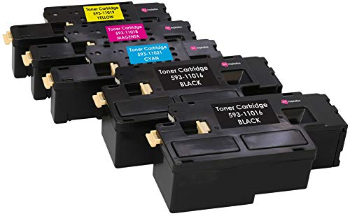 5 (1 SET + 1 BLACK) Compatible Laser Toner Cartridges for Dell 1250 1250c 1350 1350cn 1350cnw 1355 1355cn C1760 C1760nw C1765 C1765nf C1765nfw | Print Yield: 2000 Pages (Black) & 1400 Pages (Colours)