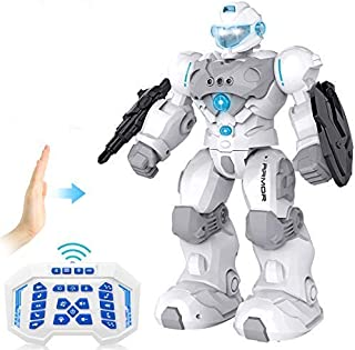 RC Robot for Kids Intelligent Programmable Robot with Infrared Controller Toys,Dancing, Singing,Blue Eyes,Gesture Sensing ...