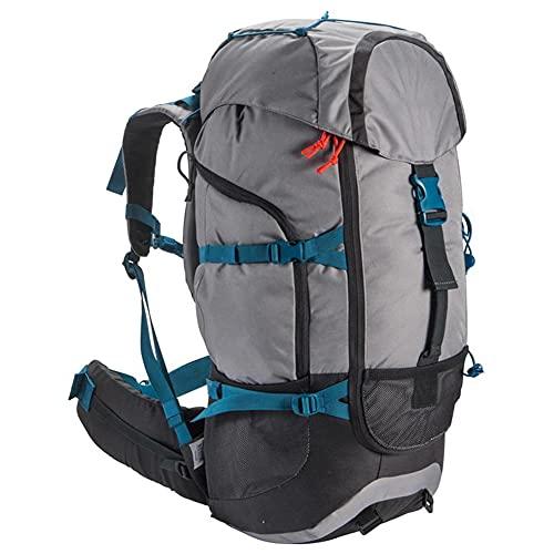 Zaini da Trekking, 50L Zaino da Alpinismo Multifunzionale da Viaggio Leggero per Esterni di Grande capacità per Il Tempo Libero,Grigio