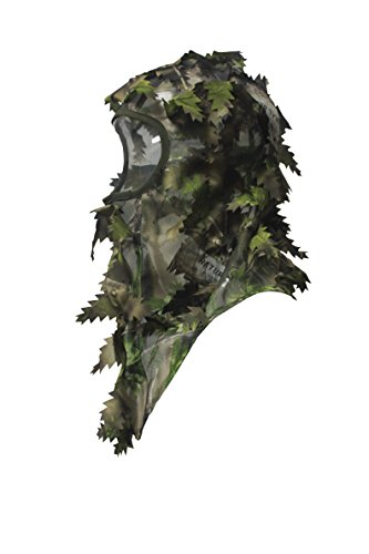 North Mountain Gear Camouflage Hunting Full Cover Leafy 3D Face Mask (Ambush Green)