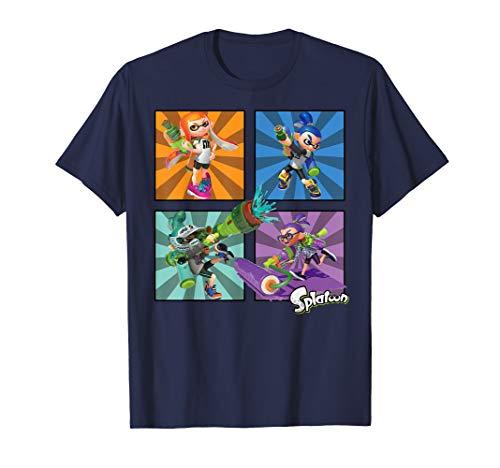 Splatoon Four Character Box Up T-Shirt