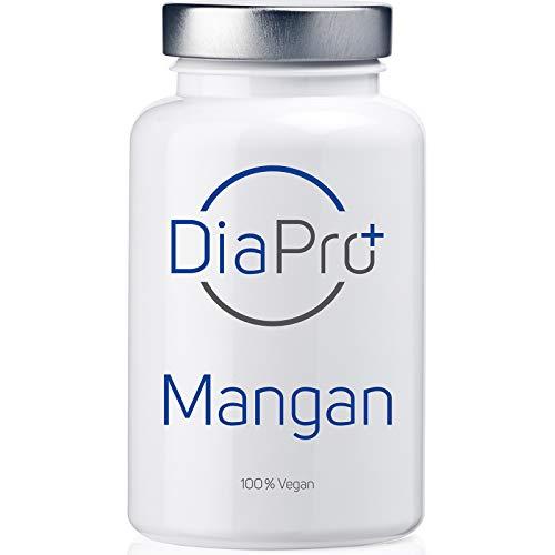 DiaPro® Mangan Hochdosierte Mangan-Tabletten mit 10 mg Mangan pro Tablette aus Mangan-Bisglycinat 365 Stück Jahresvorrat 100% Vegan Laborgeprüft