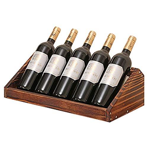 Holz Weinregal Flaschenhalter freistehende Weinregal Regal Montage erforderlich für Home Decor Bar Weinkeller Keller Schrank Speisekammer