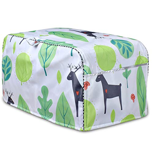 Four Slice Bread Toaster Cover,Bread Toaster Cover,Cover for air fryer with Large Pocket Compatible(Fallow Deer,Small)