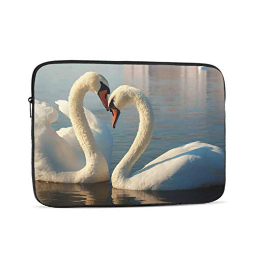 MacBook Pro Cases Beautiful White Swans Dancing Mac Covers Multi-Color & Size Choices 10/12/13/15/17 Inch Computer Tablet Briefcase Carrying Bag