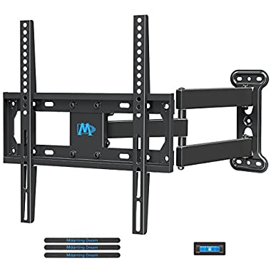 Mounting Dream MD2377 TV Wall Mount Bracket Most 26-55 inch LED, LCD, OLED Flat Screen TV Full Motion Swivel Articulating Arm up to VESA 400x400mm 60 lbs Tilting