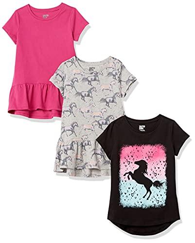 Spotted Zebra Girls' Short-Sleeve T…