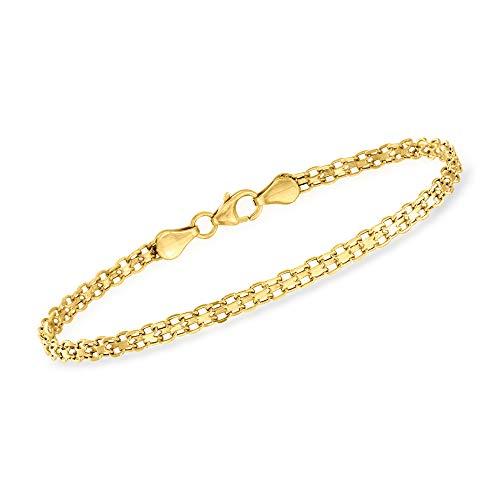 Ross-Simons Italian 14kt Yellow Gold Bismark-Link Bracelet. 7 inches