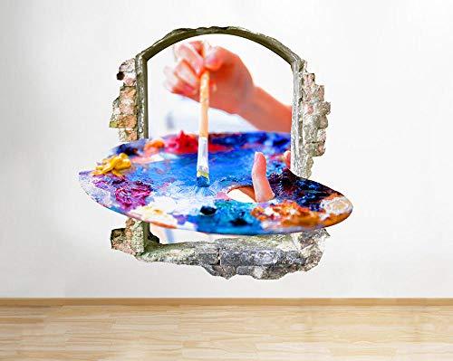Farby akrylowe kolory Art okno naklejka ścienna 3D naklejki artystyczne winylu pokój tło plakat ścienny 50x70 cm)