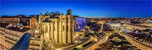 Fine Art XXL Panorama Foto, Portugal Lisboa Rosio Espacio y Ciudad Antigua, en Modelos Sobre Lienzo, bajo, Cristal acrílico, LED Pared de Imagen y designersgroup