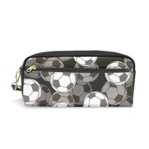 Potlood Hoezen voor Meisjes en Jongens, Voetbal 3D Pen Bag Stationery Make-up Buidelzak Grote Capaciteit Waterdicht voor Vrouwen