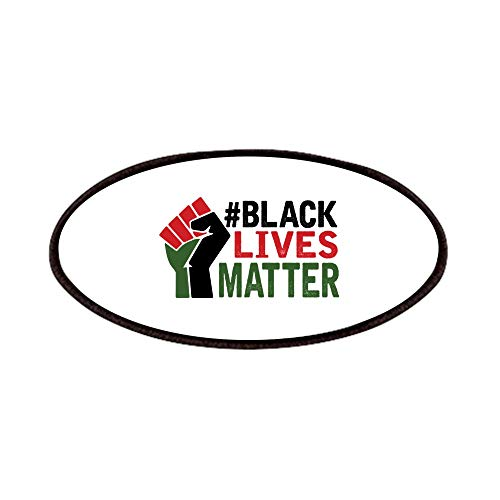 CafePress #Black Lives Matter Patch, 4x2in Printed Novelty Applique Patch