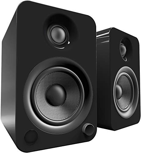 Kanto YU4 Powered Speakers with Bluetooth and Phono Preamp, Gloss Black