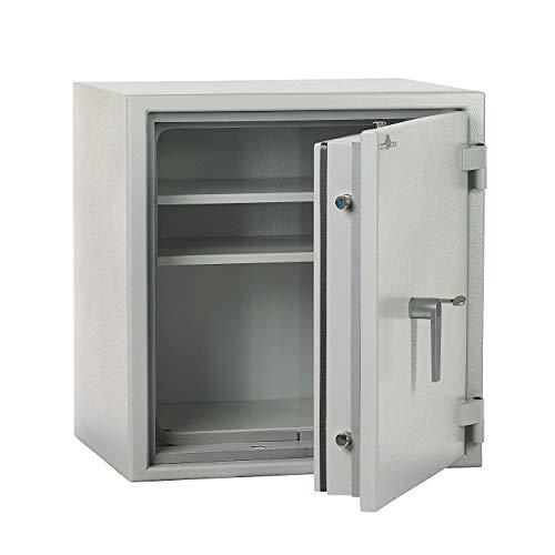 JK300 - Caja fuerte para documentos (grado 1, EN 1143-1 VDs, 615 x 589 x 471 mm, cierre de doble punta), color gris claro