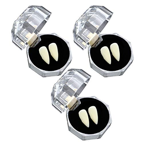 Juntful Zombie Fangs Tand met lijm voor Halloween Party Cosplay Favors Props