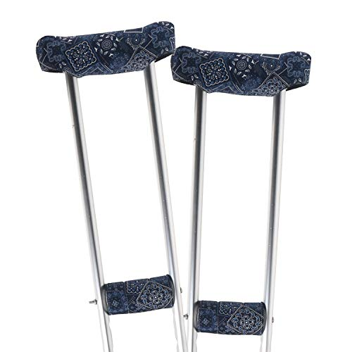 TOMMHANES AMISGUOER Crutch Underarm Pads Crutch Pad Crutch Hand Grip Covers Crutch Cover Washable OneSize Multiple Colors(2 Armpit, 2 Hand Cushion) (CP01)