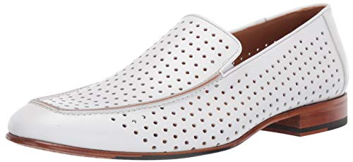 Mezlan Men's Astori Loafer, White, 13 M US