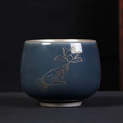 LULIJP Tetera Plateada tibetana Taza de té de cerámica de