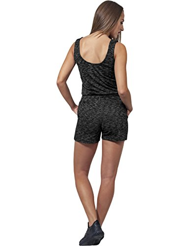 Urban Classics Damen Jumpsuit Ladies Melange Hot, Mehrfarbig (Darkgrey/Grey 488) - 3